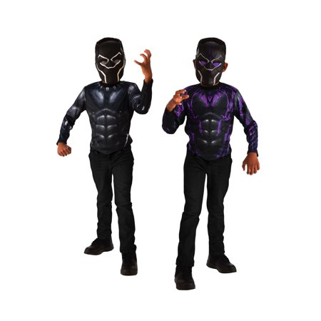 Black panther 2-in-1 reversible halloween costume top set One Size - Halloween Costume Sets