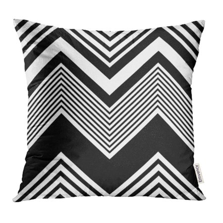 Black Regular Right Hand Throw - ARHOME Chevron Zigzag Pattern Abstract Black and White Regular Geometric Line Modern Zag Pillow Case Pillow Cover 20x20 inch Throw Pillow Covers