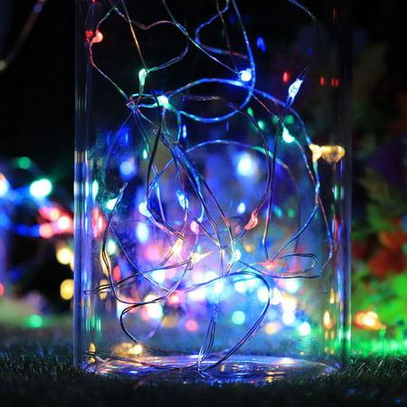 Guirlande de lampes décorative en fil de cuivre étanche à la lumière de la bouteille de vin solaire 10LEDs - image 3 of 7