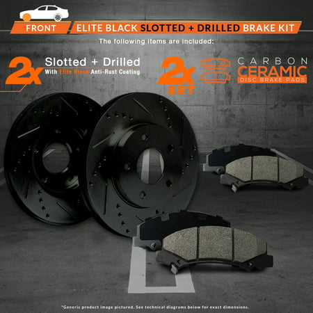 Max Brakes Front Elite E-Coated XDS Rotors and Ceramic Pads Brake Kit | KT127581-5 - image 2 of 8