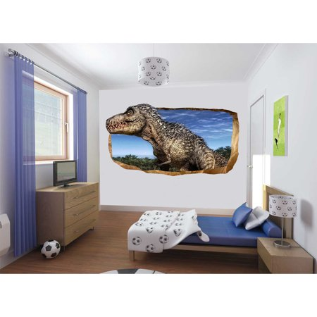 Kids Dual Art (Startonight 3D Mural Wall Art Photo Decor Jurassic Dinosaur World I Amazing Dual View Surprise Wall Mural Wallpaper for Bedroom Kids Wall Paper Art Gift Large 47.24 '' By 86.61)