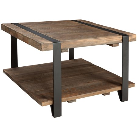 Modesto Cube Coffee Table Rustic Natural