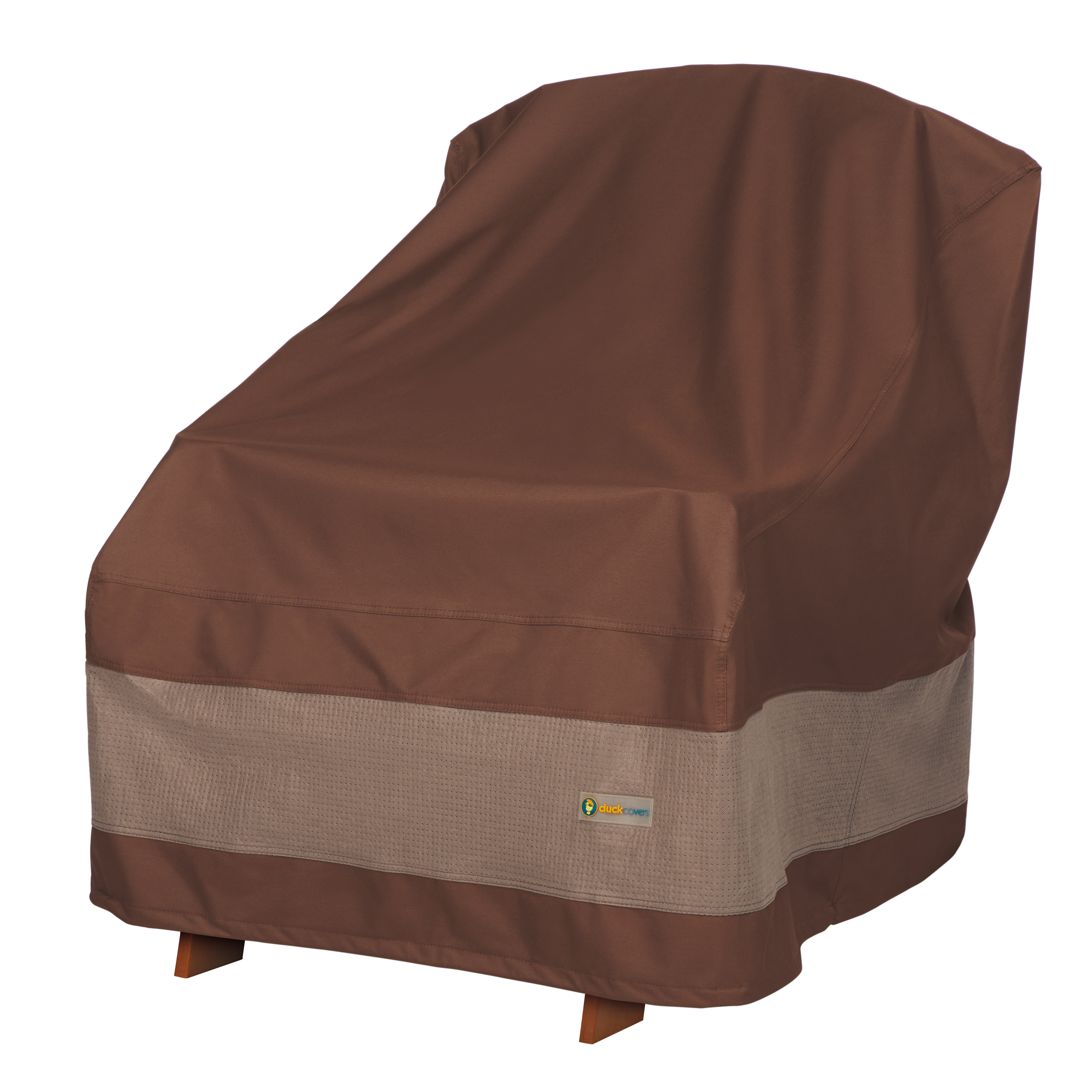 """Duck Covers 32""""x34""""x36"""" Brown Patio Adirondack Chair Cover, Ultimate"""