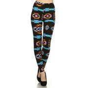 2Chique Boutique Women's Aztec Tribal Print High Waisted Leggings