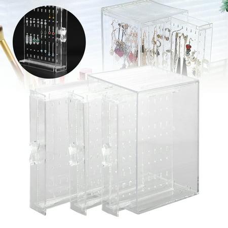 EEEkit Jewelry Storage Box, 3 Vertical Drawer, Earrings Display Stand Organizer Holder, Plastic Clear Bracelet Hanger, Fine Jewelry Organization](Earring Hanger)