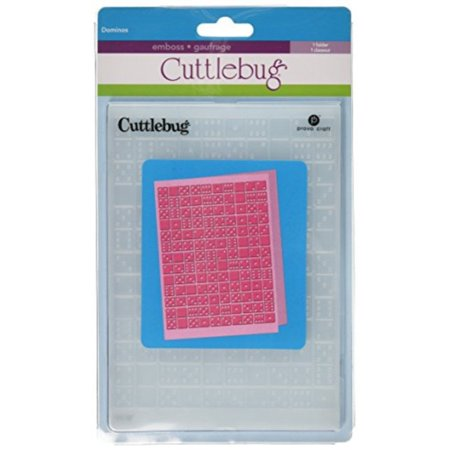 Cuttlebug 5-Inch-by-7-Inch Embossing Folder, Dominos Cuttlebug Embossing Folder