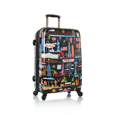 b3eb53206 Heys - 26 inch FVT USA Rolling Luggage, Black - Walmart.com