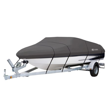 Classic Accessories StormPro™ Heavy Duty Boat Cover with Support Pole, Fits Boats 16' - 18.5' L x 98