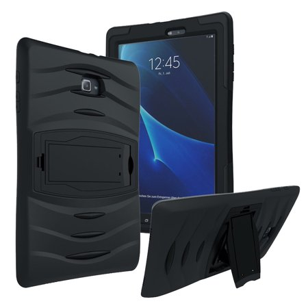 the best attitude d8228 08663 Galaxy Tab E 9.6 Case Cover by KIQ Shockproof Heavy Duty Armor Kickstand  Screen Protector [SM-T560, SM-T561, SM-T560NU, SM-T560NZ] (Black)