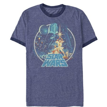 Star Wars Men's Classic Scene Circle Ringer T-Shirt Blue Kids Ringer T-shirt