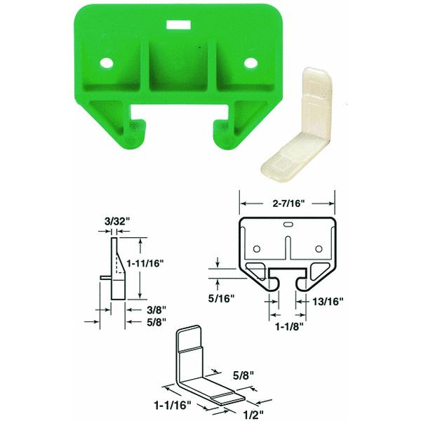 Prime Line Products 22495 1-1/8-In. Green Drawer Track Guide