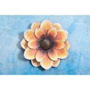 "Sunjoy 110311011 Oversized 25"" Metal Flower Wall Decor, Yellow and Orange"