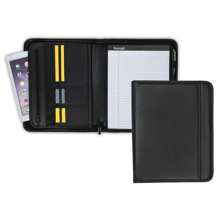 Samsill Professional Zipper Padfolio with Interior 10.1 Inch