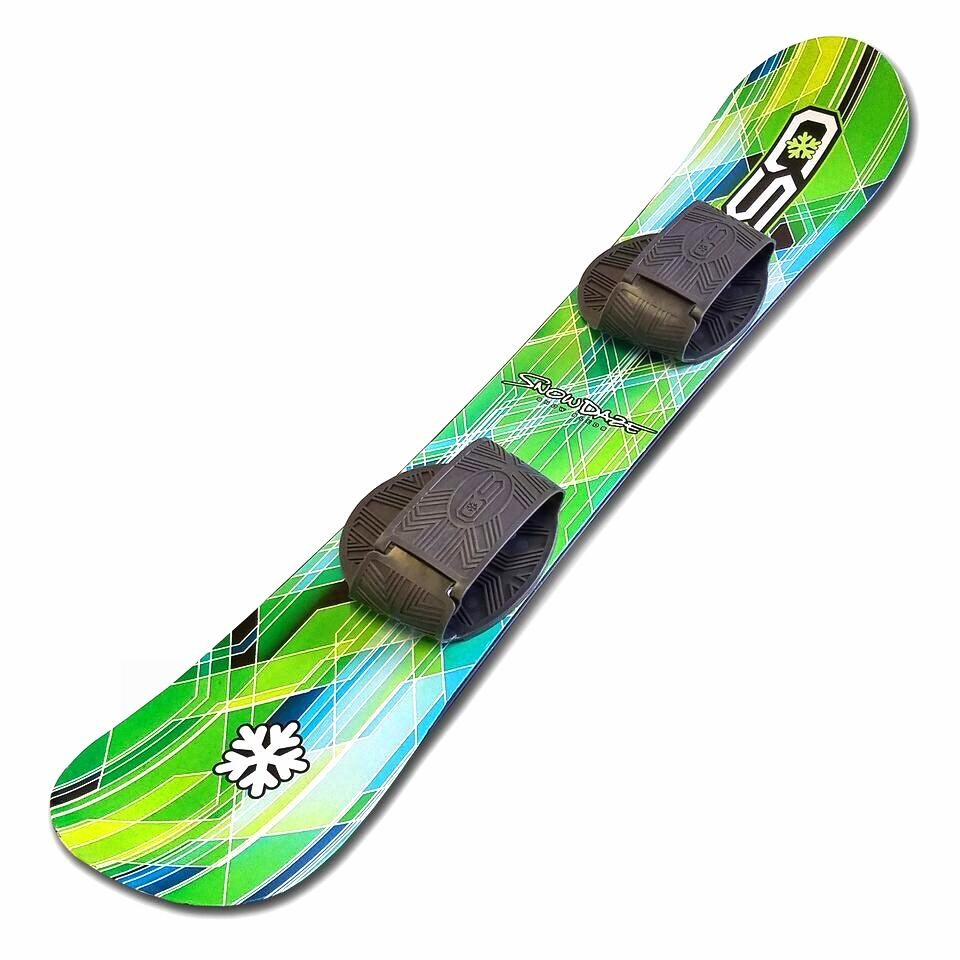 Snow Daze 110 cm Green Pattern Kids Beginner Snowboard