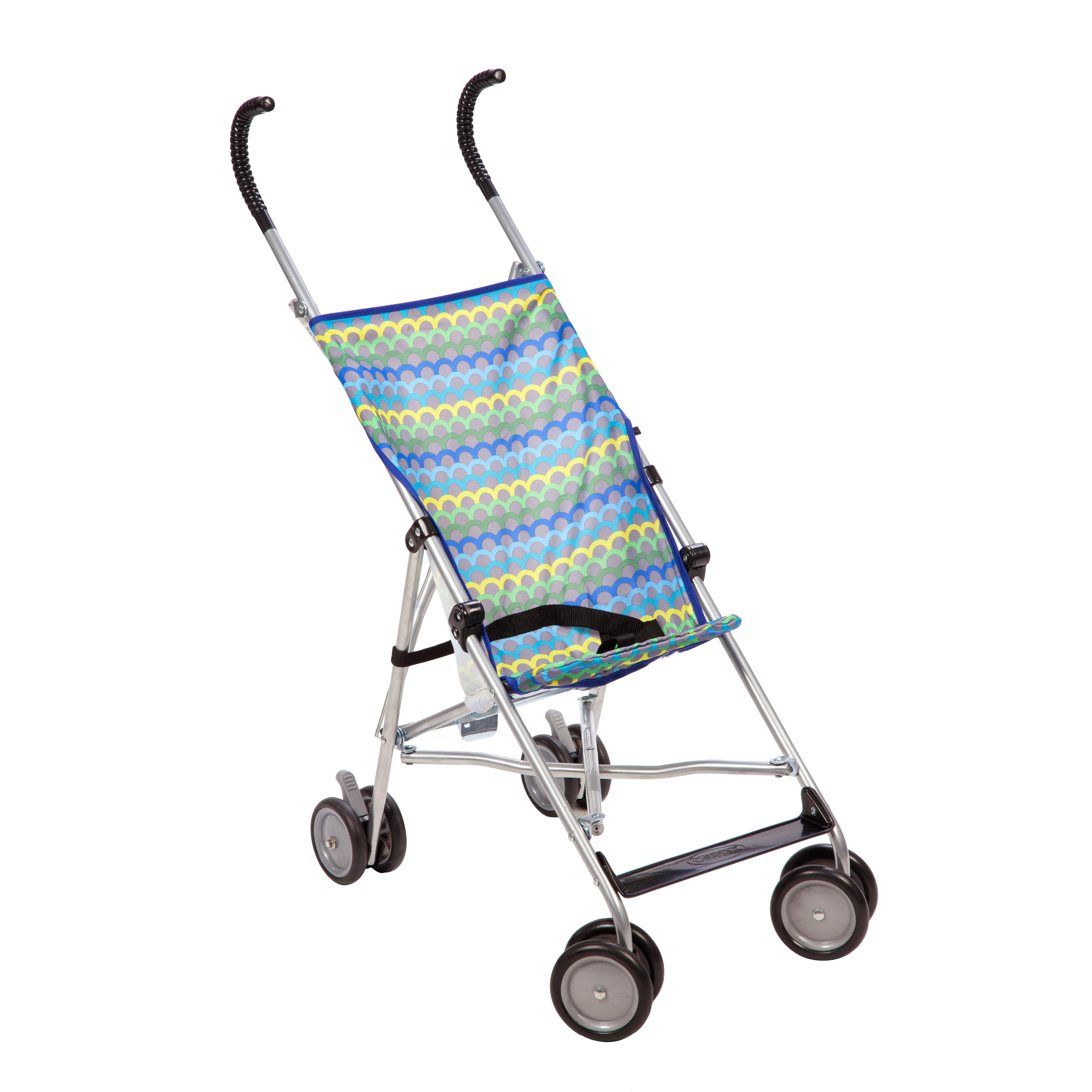 Coche Para Bebe Cosco® cochecito de paraguas sin horizonte de Canopy-Color: amarillo / azul patrón + Cosco en Veo y Compro