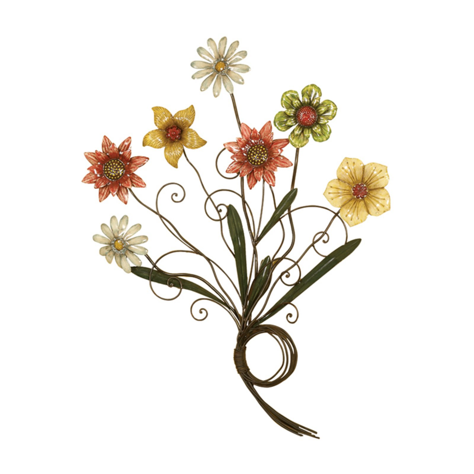 Passport Colorful Flowers Metal Wall Decor - 30W x 36H in.