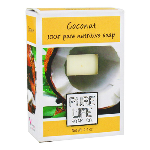 Pure Life Bar Soap Coconut, 100% Pure Nutritive Soap - 4.4 Oz