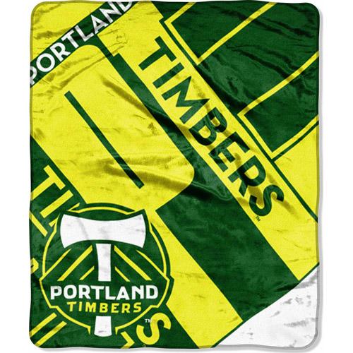 "MLS 50"" x 60"" Royal Plush Raschel Throw, Timbers"