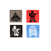 Star Wars Melamine Plate Set - 4 Different Designs