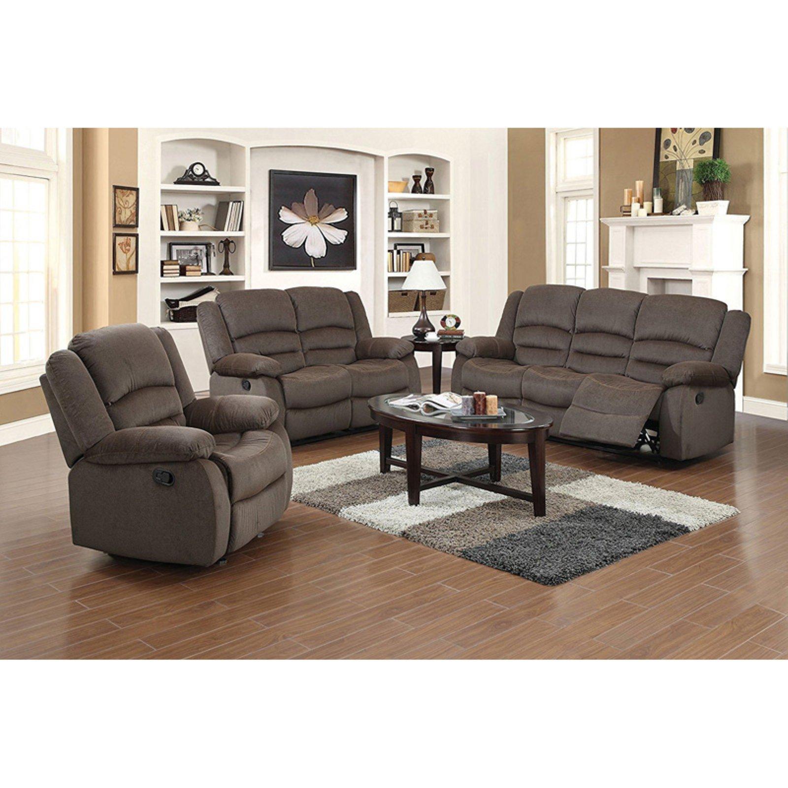 U.S. Pride Furniture Dallas 3 Piece Reclining Sofa Set