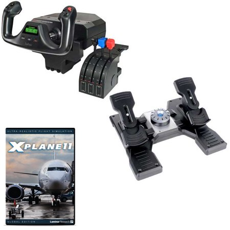 Saitek Basic Flight Simulation w/X-Plane 11 DVD Bundle