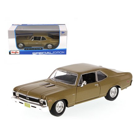 1970 Nova - 1970 Chevrolet Nova SS Gold 1/24 Diecast Model Car by Maisto
