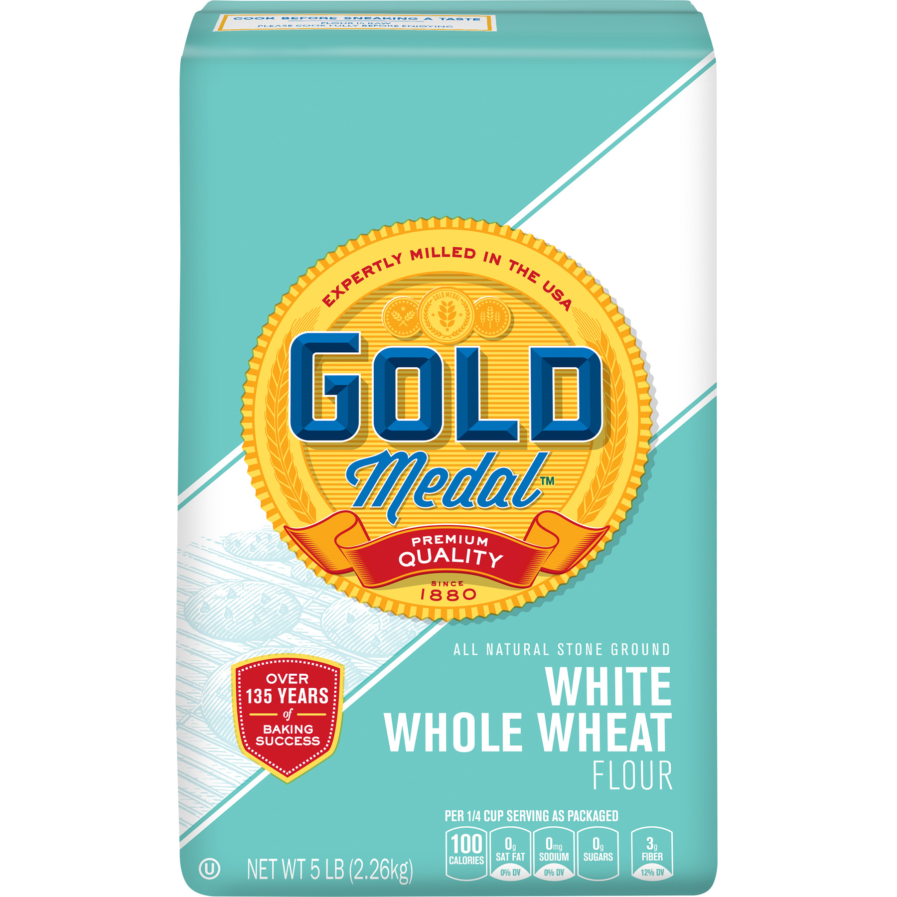 Gold Medal White Whole Wheat Flour, 5 lb Bag