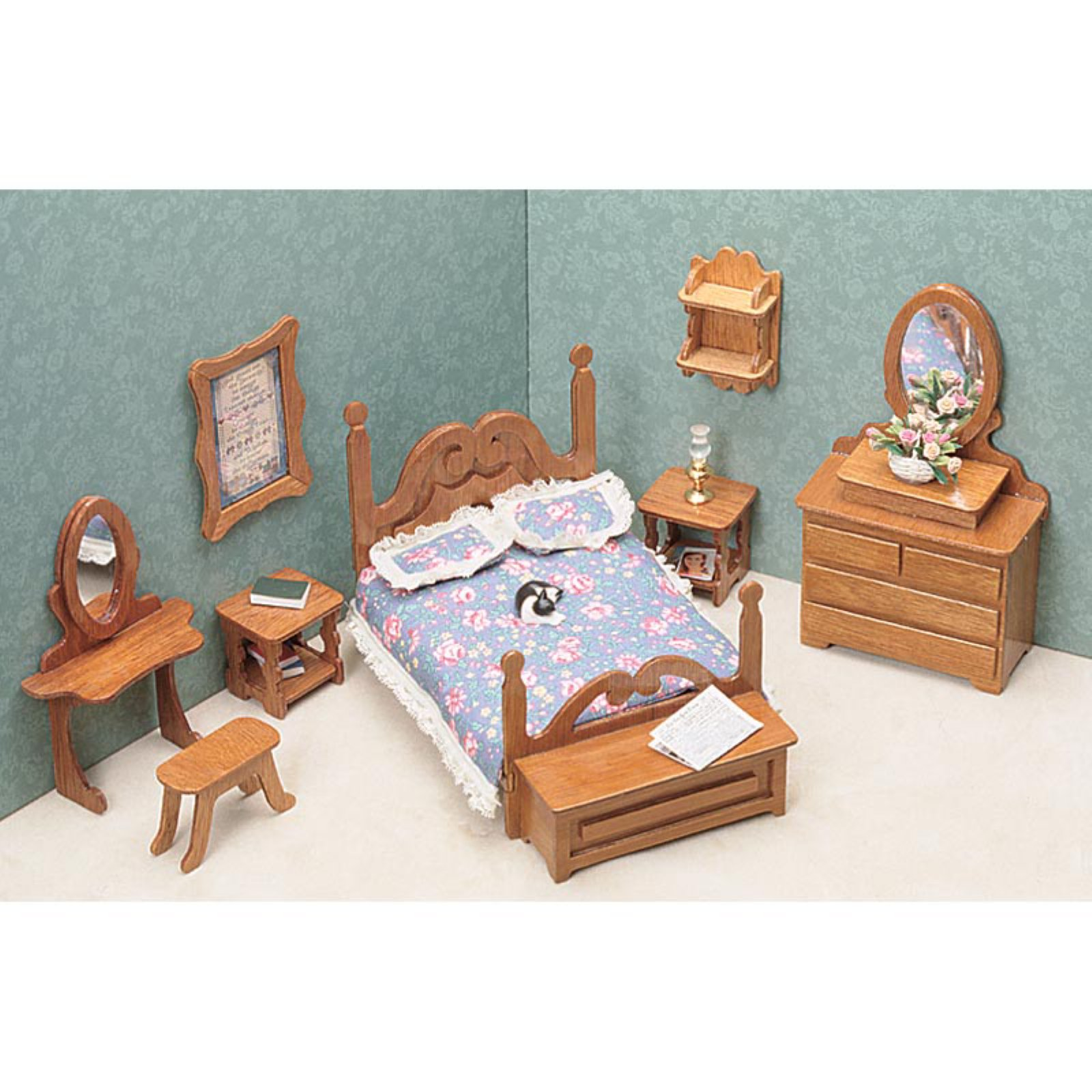 Dollhouse Furniture Kit Bedroom Walmart Com