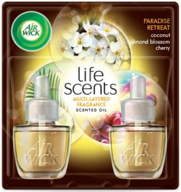 Air Wick Plugin Air Freshener, Scented Oil, Coconut Almond Blossom & Cherry 0.67 oz. (Pack of 2)