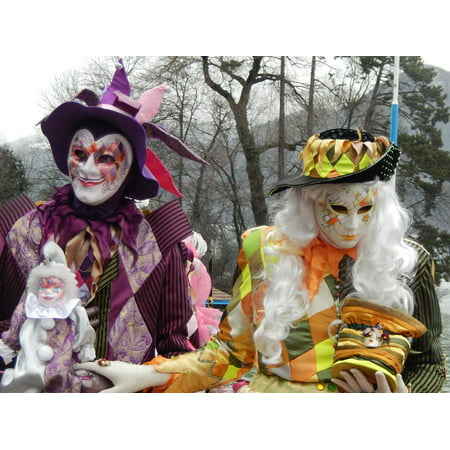Framed Art For Your Wall Couple Costume Carnival 10x13 Frame - Carnival Costumes For Couples