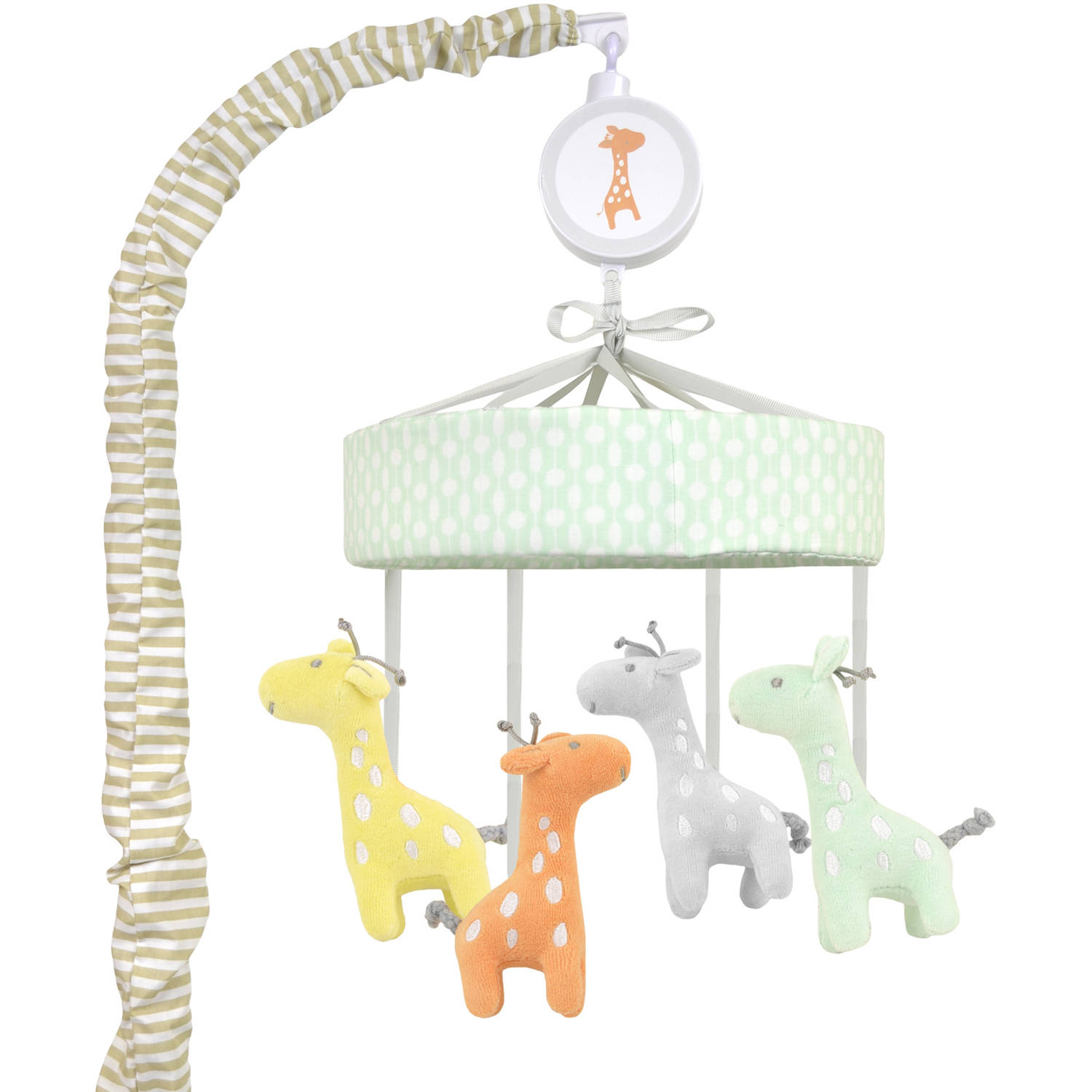 bacati elephants musical mobile with hanging toys pink gray. Black Bedroom Furniture Sets. Home Design Ideas