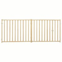 """Wood Pet Gate 24"""" High New Patented Latch Extra-Wide Expands 50.25""""-94"""""""