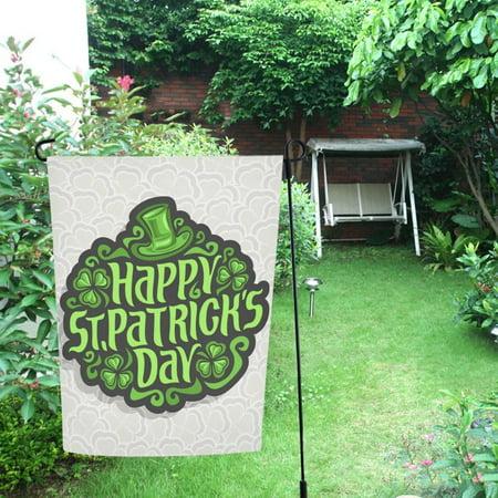 MYPOP St. Patrick Day Irish Clover Shamrock Leaf Decor Garden Flag 28x40 inches