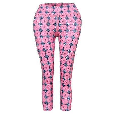 039eb0d4f TAM WARE - TAM WARE Women Activewear Printed Yoga Capri Leggings ...