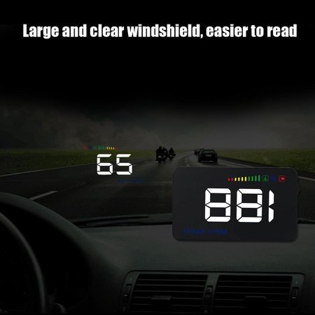 Ejoyous A500 Head Up Display,Car HUD Display,3.5inch A500 Universal Car HUD Head Up Display RPM Overspeed Warning OBD2 Windshield Projector - image 12 of 13
