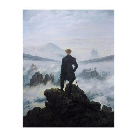 Caspar Friedrich Wanderer Above the Sea of Fog Art Print Poster - (Wanderer Above The Sea Of Fog Print)