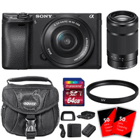 Sony Alpha a6300 Mirrorless Digital Camera with 16-50mm and 55-210mm Lens Kit