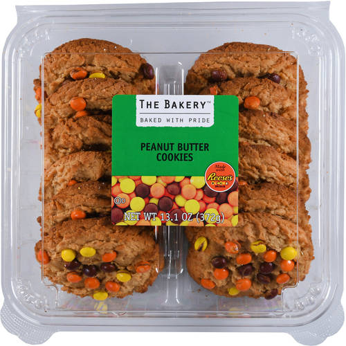 The Bakery Peanut Butter Cookies made with Reese's Pieces Minis, 13.1 oz, 12 Count