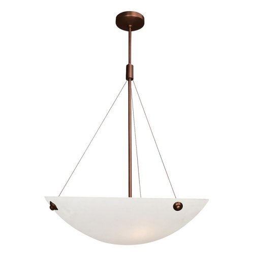 Access Lighting 23073-BRZ ALB Noya Four Light 24-Inch Diameter Pendant with Alabaster Glass Shade, Bronze Finish by Access Lighting