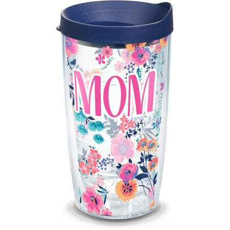 Mom Dainty Floral 16 oz Tumbler with lid ()