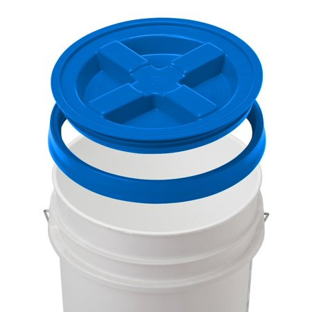 Gamma Seal Bucket Lids (7 Gallon Letica White Bucket with Gamma Seal Lid)