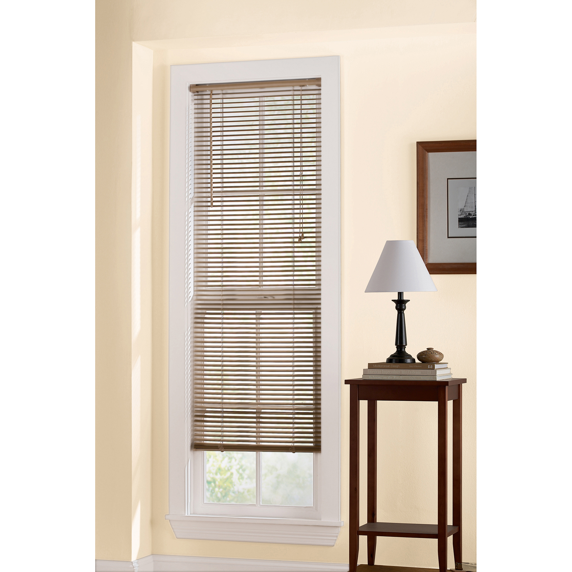 vertical faux window wood aluminum cordless mini g blinds inch
