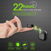 Bluetooth 4.2 BassMini True Wireless Headphones, Sports Wireless nvisible In-ea Earbuds Earphones, Built-in Microphone for iPhone, Samsung, Android Phone