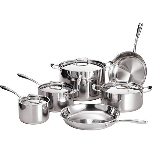 Tramontina 10-Piece 18/10 Stainless Steel TriPly-Clad Cookware Set