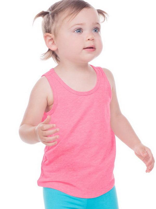 Kavio IJP0661 Infants Sheer Jersey Tank-Pink Flash-24M