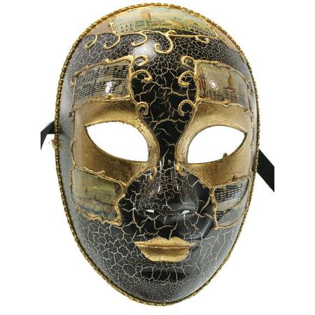 FULL FACE CARNIVAL MASK - Venetian Costume - MASQUERADE - Venetian Full Face Mask
