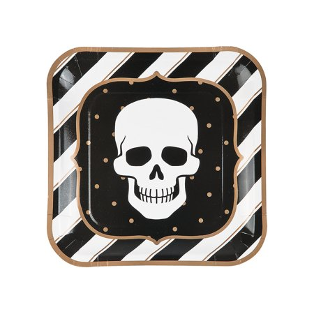 Fun Express - GlitZ-O-Ween Dinner Plates (8pc) for Halloween - Party Supplies - Print Tableware - Print Plates & Bowls - Halloween - 8 - Family Fun Halloween Dinner