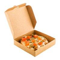 """Kraft Paper Mini Pizza Box - 3 1/2"""" x 3 1/2"""" x 3/4"""" - 100 count box"""