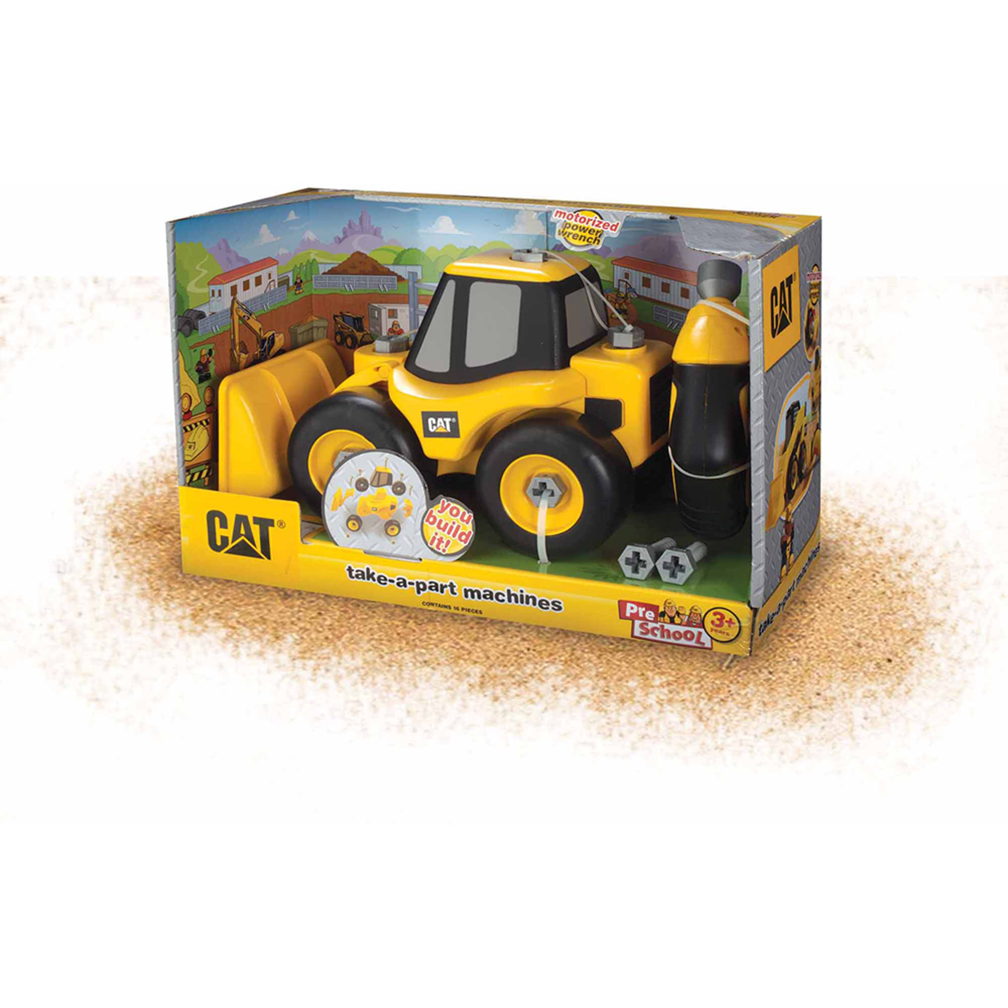 Toysmith Caterpillar Take A Part Wheel Loader, Cat