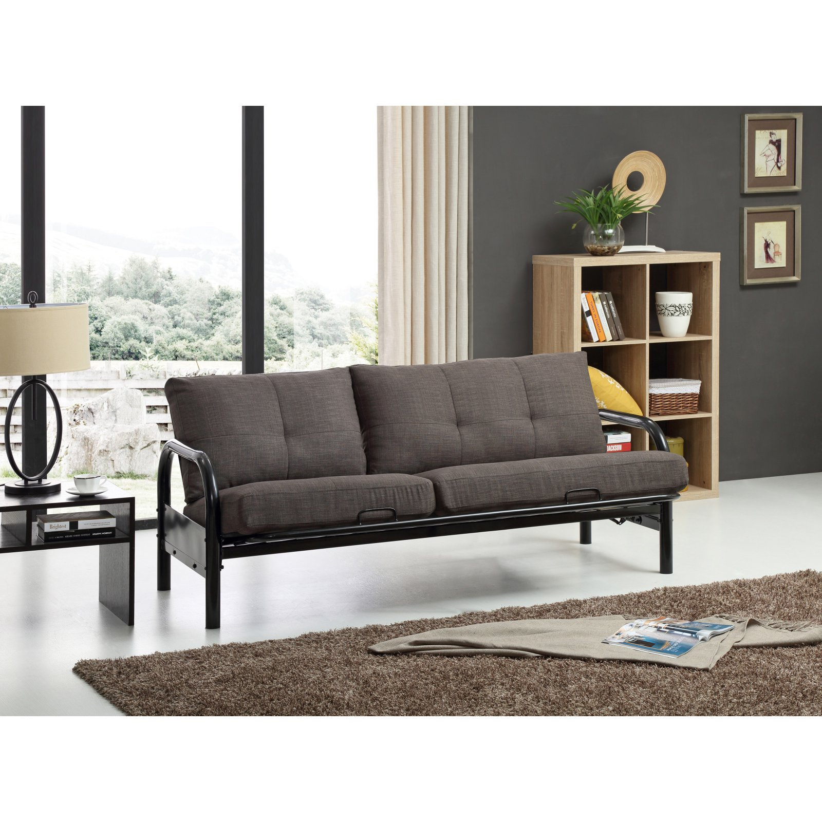 Hodedah Imports Metal Futon Frame by Overstock